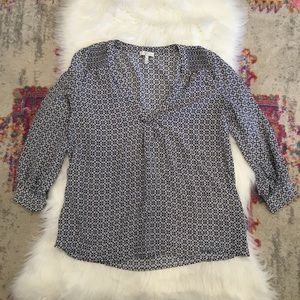 Joie Printed Silk Blouse XS